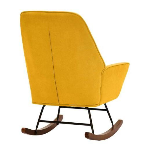 Tribesigns Rocking Chair Accent Chair with Ergonomic Shape Leg