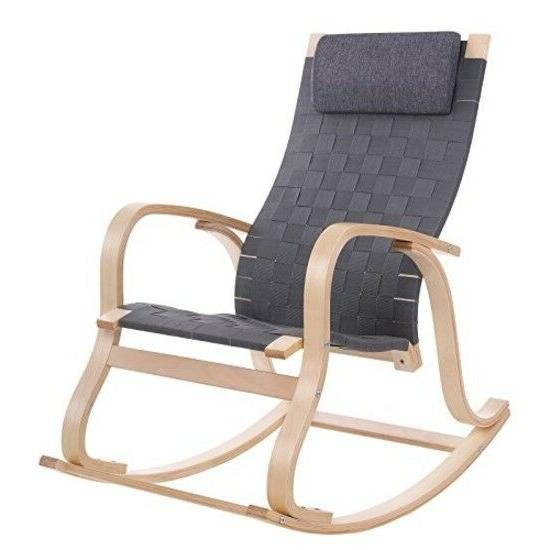 Rocking Chair/Glider/Relax Lounge Chair with Removable Pillo