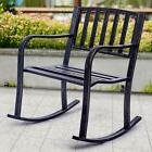 Rocking Chair Patio Deck Metal Porch Seat Outdoor Backyard G