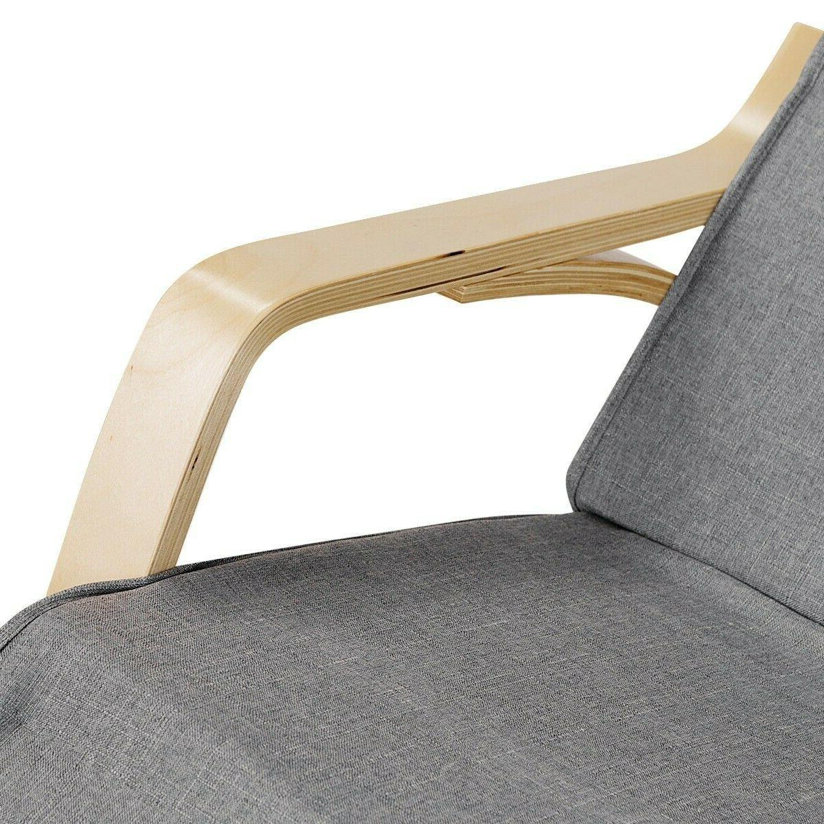 Indoor Rocking Chair Cushioned Armchair Relax Rocker