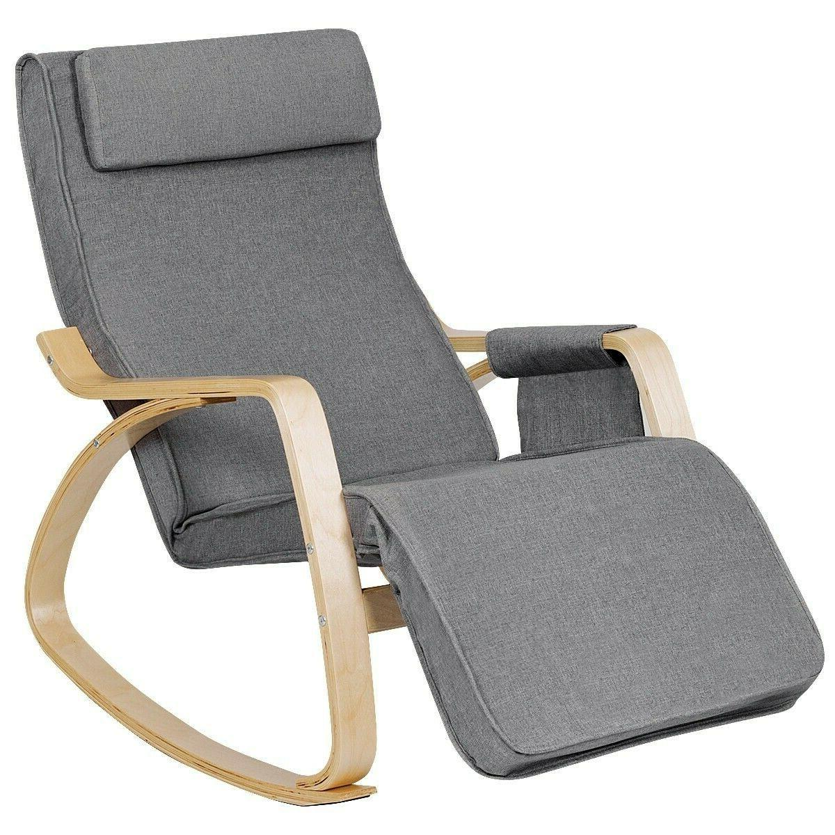 rocking chair realx lounge chair adjustable footrest