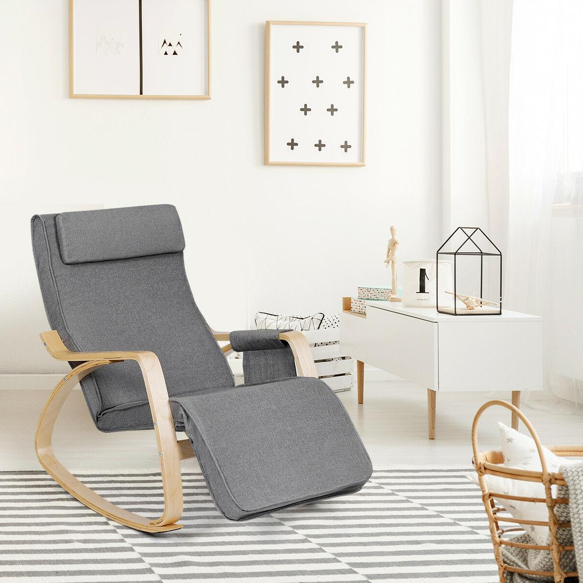 Rocking Realx Chair Rocker w/ Pillow