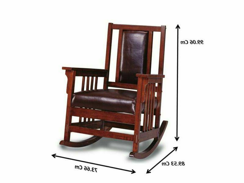 Rocking Chair With Match Seat And Back Tobacco Brown