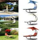 Rocking Outdoor Patio Chaise Lounge Chair W/Canopy Garden Po