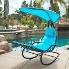 Rocking Outdoor Patio Lawn Chaise Lounge Chair Cushion w/ Ca