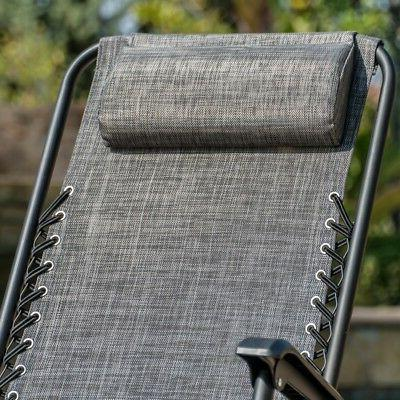 Rocking Patio Lounge Recliner Yard Outdoor, Gray