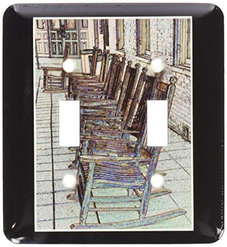 row antique rocking chairs a