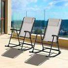 Set of 2 Outdoor Patio Folding Rocking Chair Garden Rocker M