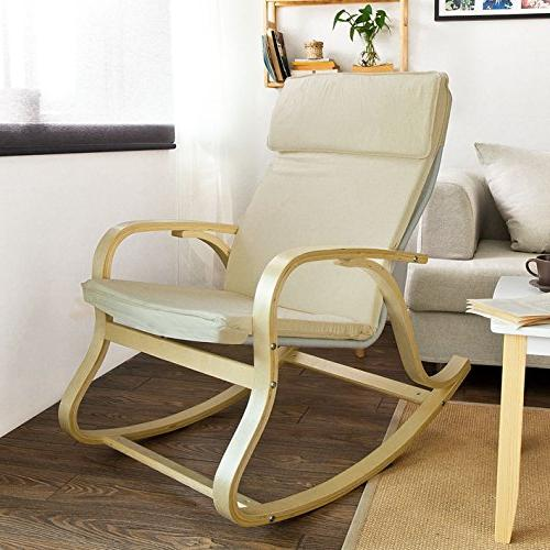 Haotian Comfortable Relax Chair, Lounge Chair Chair with Cotton Fabric Cushion