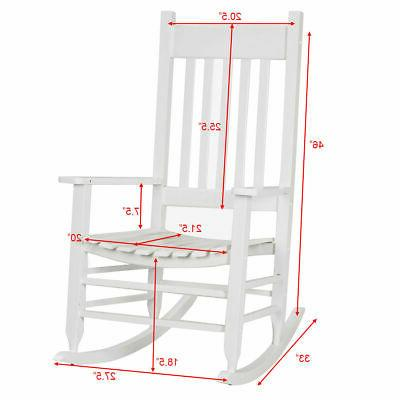 Country Chair Wood Porch Deck Patio White