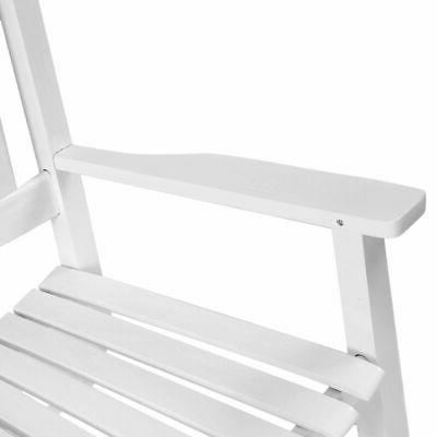 Country Chair Wood Deck Patio White