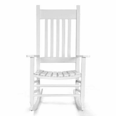 country rocking chair solid wood recliner porch