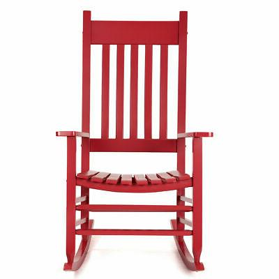 Rocking Chair Solid Wood Recliner Patio Outdoor Porch Rocker
