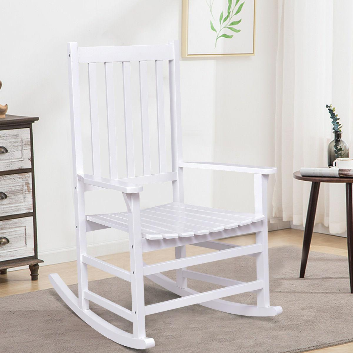 Solid Rocking Rocker Outdoor Patio Furniture White