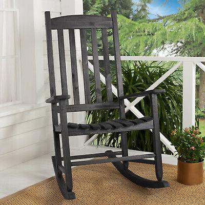 Solid Wood Chair Porch Patio Indoor Outdoor White, Black, Brown