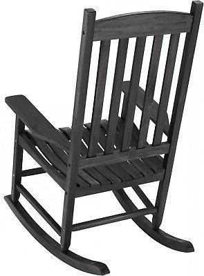 Solid Wood Chair Outdoor White,