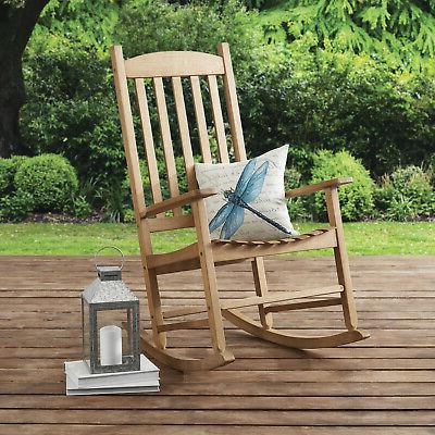 Solid Rocking Chair Porch Outdoor White, Black, Brown