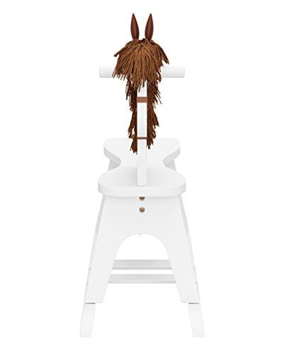 Storkcraft Wooden Rocking Horse, White, Chair Toy for Toddlers for