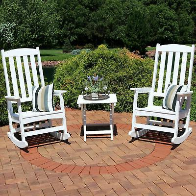 Sunnydaze All-Weather Traditional Rocking Chair Set of 2 wit