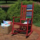 Sunnydaze Wooden Traditional Rocking Chair with Non-Toxic Pa