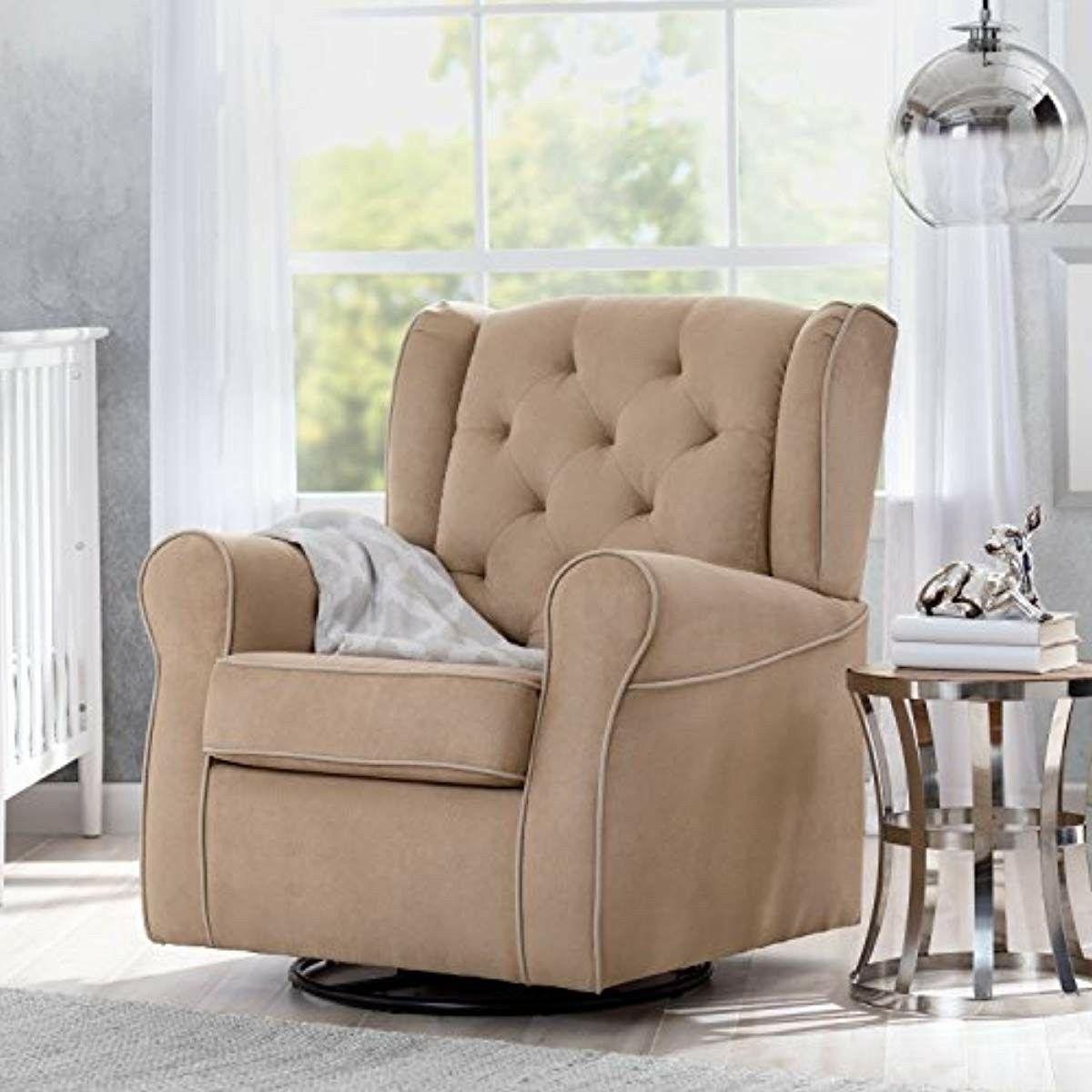 Swivel Rocking Chair Nursery Upholstered Accent Rocker