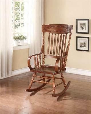 tobacco finish rocking chair
