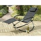 Trans-Continental Orbit Relaxer Steel Patio Rocking Chair