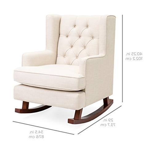 Best Choice Upholstered Chair, Living w/Wood - Beige