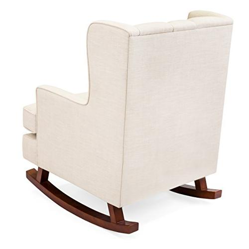 Best Products Upholstered Chair, Room, Bedroom w/Wood -