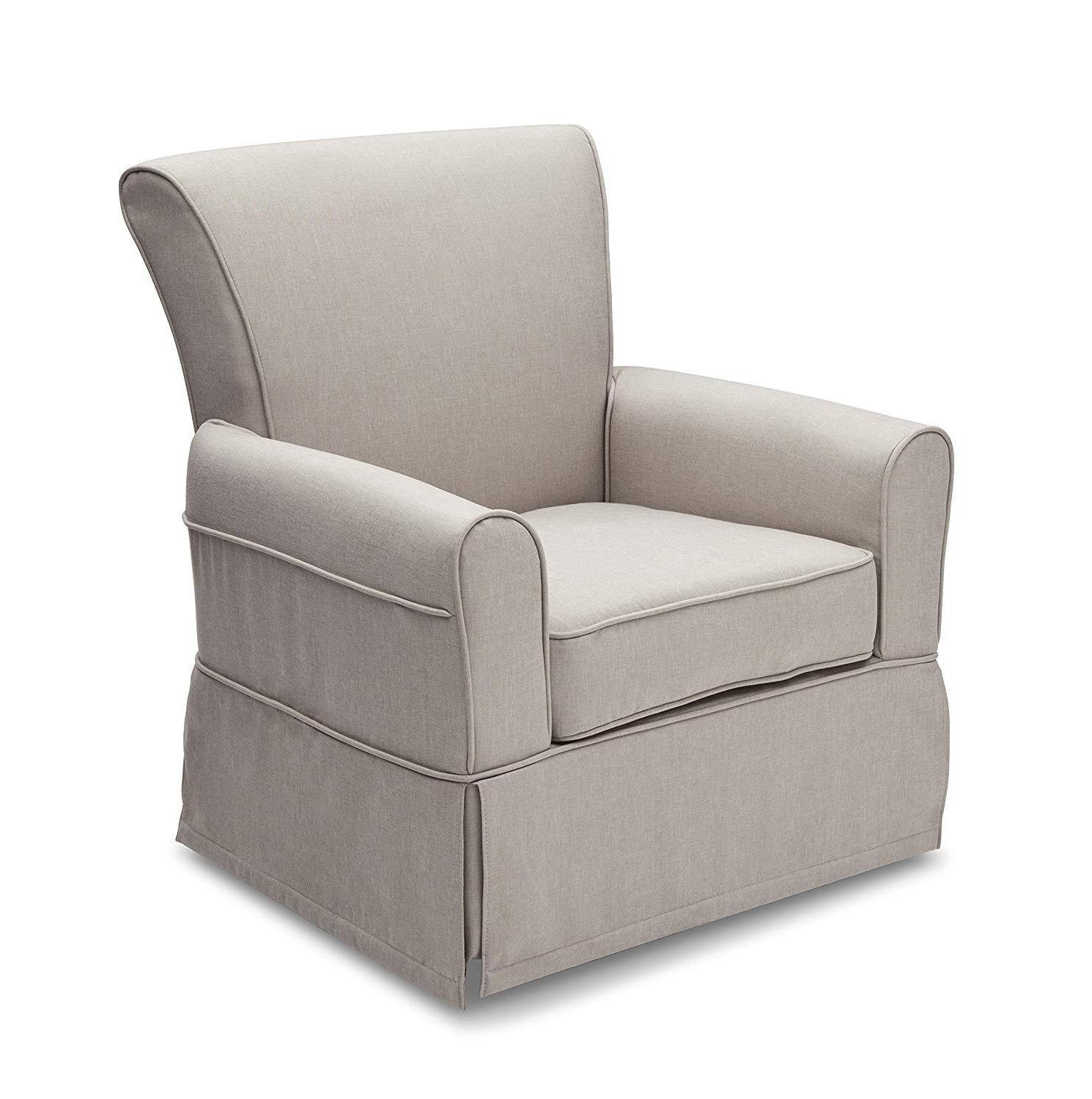 upholstered glider swivel rocker chair sand