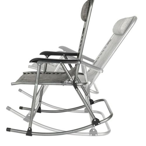 Rocking Chair Leisure Chair for Living Room Gray  Patio Chai