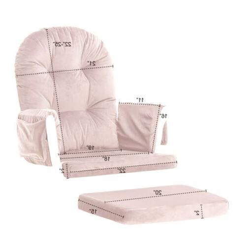 5 Chair & Ottoman Replacement Cushions Washable
