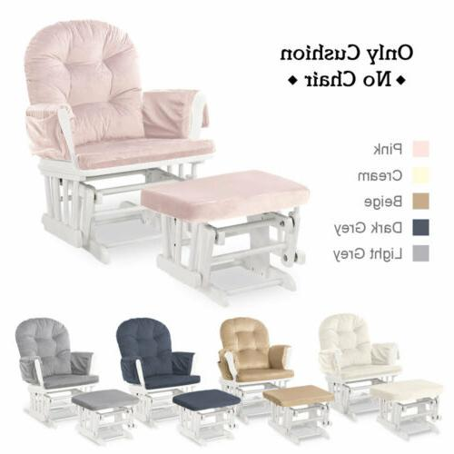 Glider Chair Ottoman Seat Cushion Sets Replacement Baby Nurs