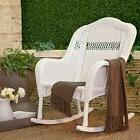 White Wicker Rocking Chair For Adults Front Porch Furniture