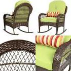 Best Choice Products Wicker Rocking Chair Patio Porch Deck F
