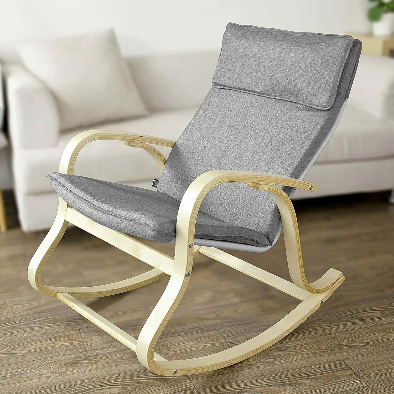Wood Baby Rocker Seat Rest Relax
