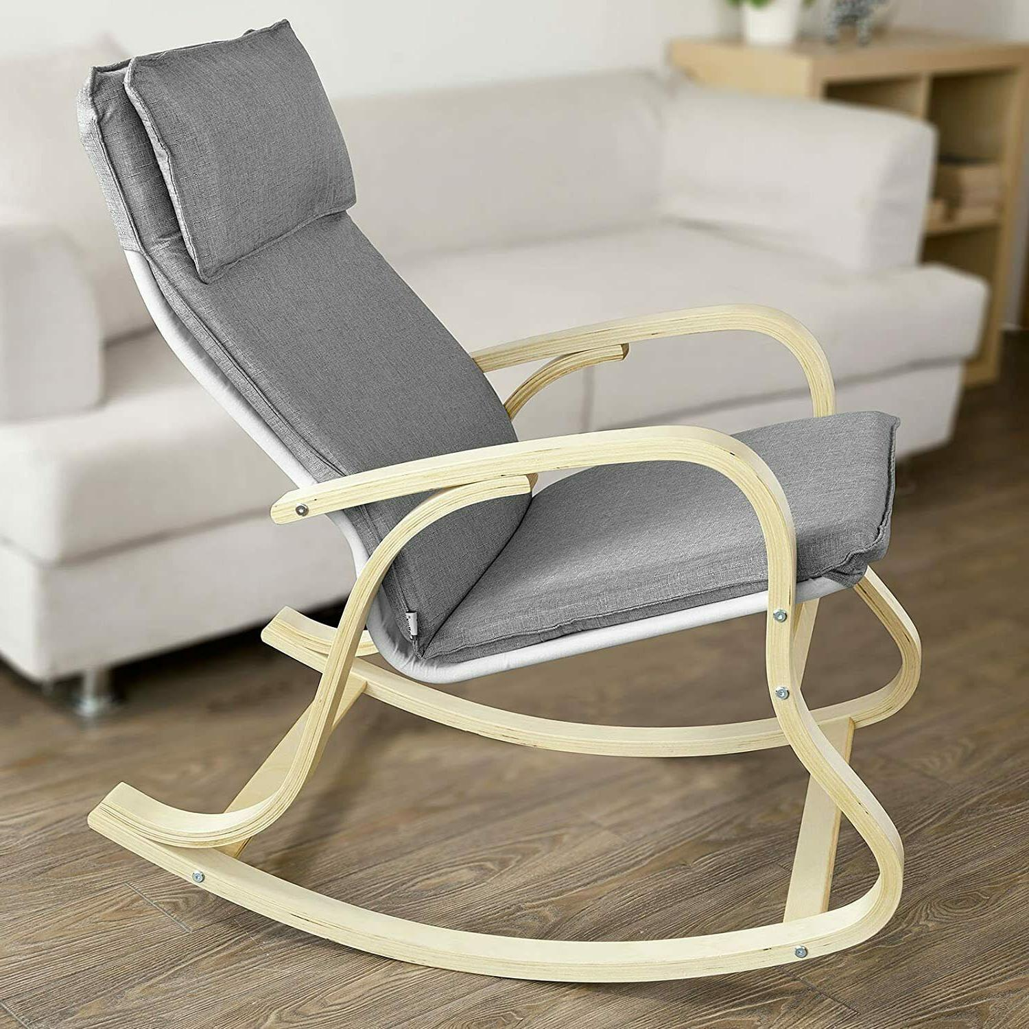 Wood Chair Nursery Baby Rocker Seat Rest