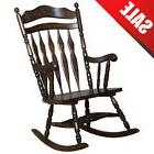 Wood Rocking Chair Vintage Chairs Antique Seat Furniture Swi