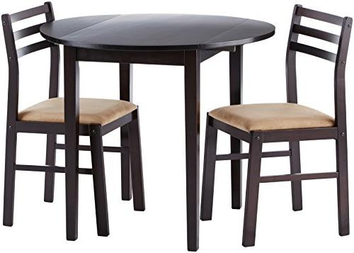 wooden breakfast table chairs