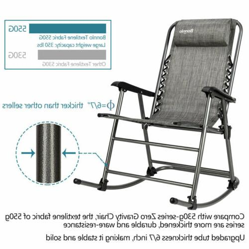 Zero Gravity Chair Folding Rocking Patio
