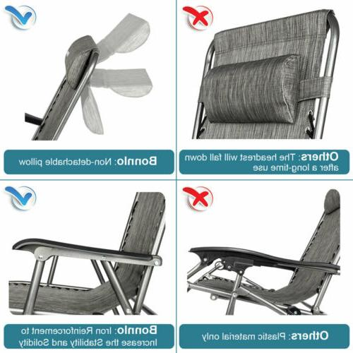 Zero Gravity Chair Rocking Chair Pillow Patio Lawn Chair