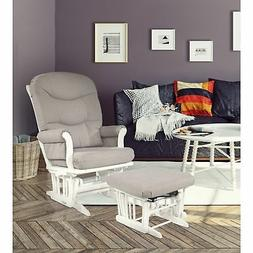 Dutailier Light Grey Multiposition Reclining Sleigh Glider a