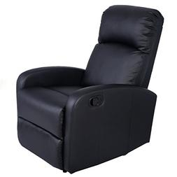 Giantex Manual Recliner Chair PU Leather Padded Seat Modern