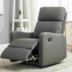 Manual Recliner Chair Leather Reclining Lounge Sofa Living R