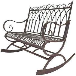 Titan Outdoor Metal Rocking Bench Chair Porch Patio Garden D