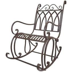 Titan Outdoor Metal Rocking Chair Porch Patio Garden Seat De