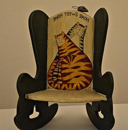 Miniature Decoration Rocking Chair Made of Solid Wood. Rocki