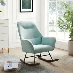 Modern Accent Chair Rocking Chair Living Room Wooden Legs Fo