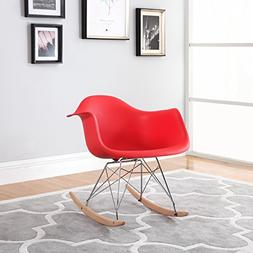 Divano Roma Furniture Modern Set of 2 Eames Style Rocking Ar