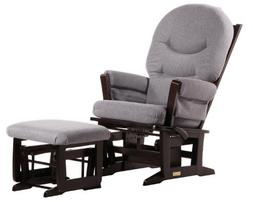 Modern Glider and Nursing Ottoman Combo